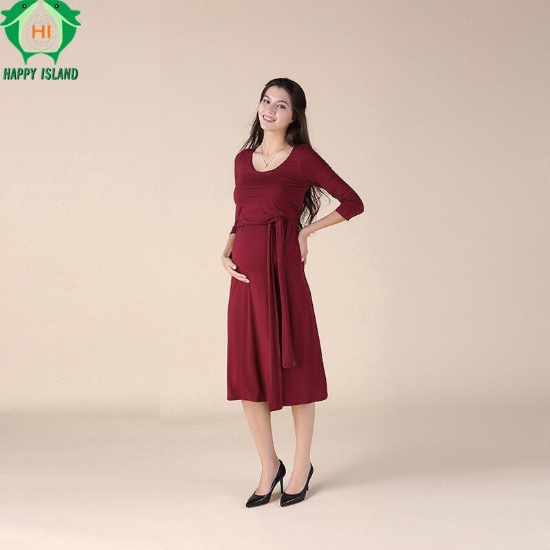 Nursing Maternity Clothes Maternity Dress Elegant Lovely Evening Party Dresses For Pregnancy Black Skirt Office Lady