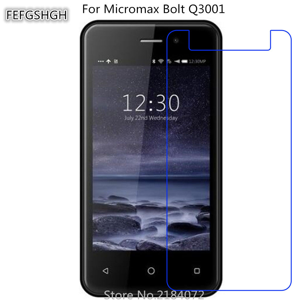 2pcs Tempered Glass For Micromax Bolt Q3001 Protective Film 9H Screen Protector Explosion-proof For Micromax Bolt Q3001