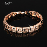 2014 New Classical CZ Diamond Party Charm Bracelets Bangles 18K Gold Plated Fashion Vintage Jewelry For