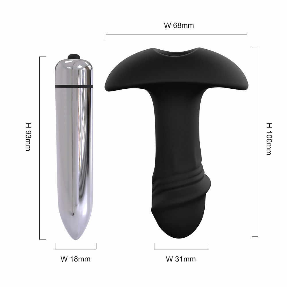 Анальная затычка силиконовые секс-игрушки Силиконовый водонепроницаемый анальный плагин силикона 7 частоты вибратора г-точка для взрослых plug Анальные вибраторы w502