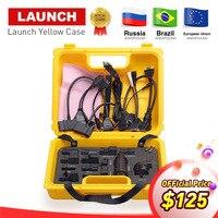 Старт X431 Diagun IV желтый чехол с полным набором кабелей и адаптеры желтый ящик для X 431 Diagun IV DHL Бесплатная доставка