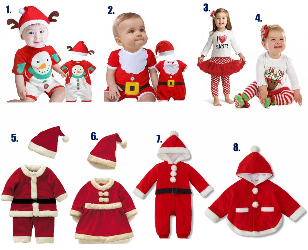 Baby Christmas Santa Claus Outfit Costume, Dressy Party Snowman Winter for 0-2 year