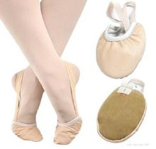 Women Half Sole Leather Ballet Dance Toe Shoes Pointe Shoes Rhythmic Gymnastics Slippers