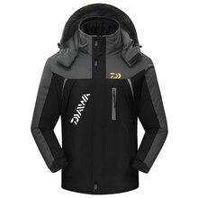 Открытый Daiwa Рыбалка одежда для мужчин женщин осень зима водонепроницаемый теплые рыболовные куртки лоскутное с капюшоном альпинизма костюмы