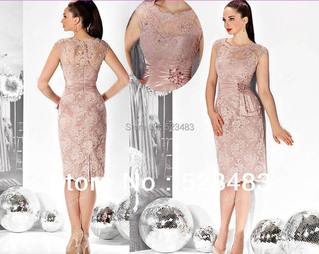 petite elegant inexpensive short evening dresses gowns lace mother ...