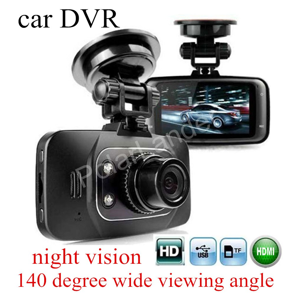 2.7 inch screen Full HD Car DVR Vehicle Camera Camcorder Recorder G-sensor night vision 140 degree wide viewing Angle GS8000