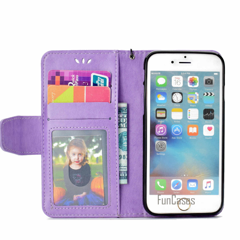 حورية البحر جراب هاتف لابل آيفون 7 PU أغطية جلد ريترو مجنون الوجه قضية الهاتف المحمول حقيبة آيفون 8 Capinhas copue