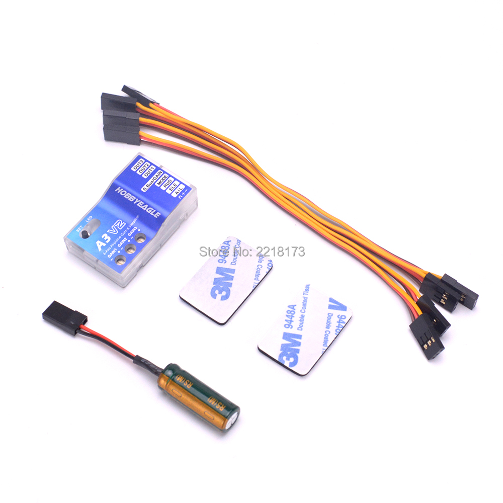 Hobby Eagle 3 Axis Gyro A3 V2 Aeroplane Flight Controller Stabilizer for RC Quadcopter Multicopter Airplane Fixed-wing Copter wholesale eagle a3 super ii flight controll gyro 3d avcs for fixed fpv half set page 5