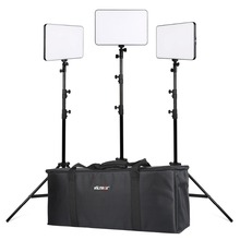 Viltrox VL400 Bi-Color Dimmable LED Video Light x3 +3x Light Stand + Carry Bag for DSLR Camera Studio LED Lighting Kit neewer bi color led 660 video light and stand kit with battery charger for studio youtube video recording durable metal frame