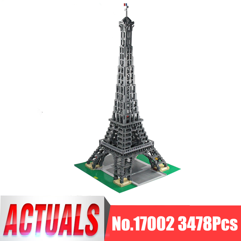 Lepin City Creator Figures 17002 3478Pcs The Paris Eiffel Tower Model Building Kits Blocks Bricks Kid Toys Compatible With 10181 aiboully city 7014 7017 model the louvre in paris rome fontana di trevi building blocks sets bricks toys compatible with gift
