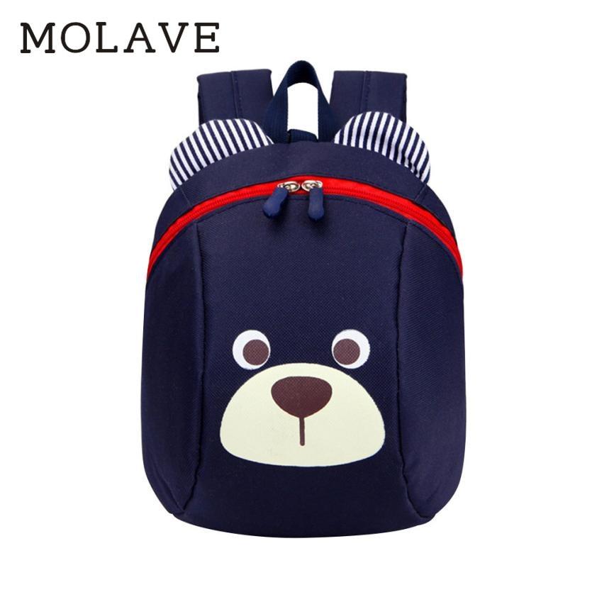MOLAVE Backpack Children backpacks Kids Baby Bag cartoon Canvas fashion Cute Animal Dog Children Backpacks School Bag May18
