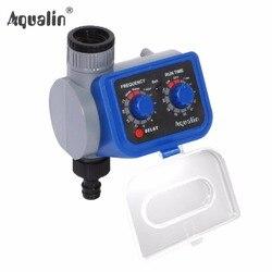 Automático electrónico solenoide Válvulas jardín temporizador de riego con retraso función #21003
