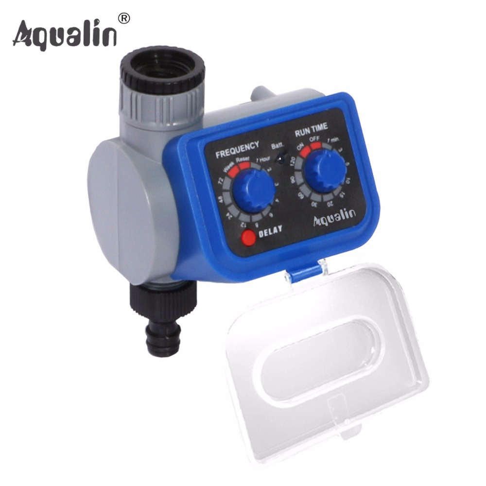Electronic Automatic Solenoid Valve Garden Home Irrigation Water Timer With Delay Function #21003
