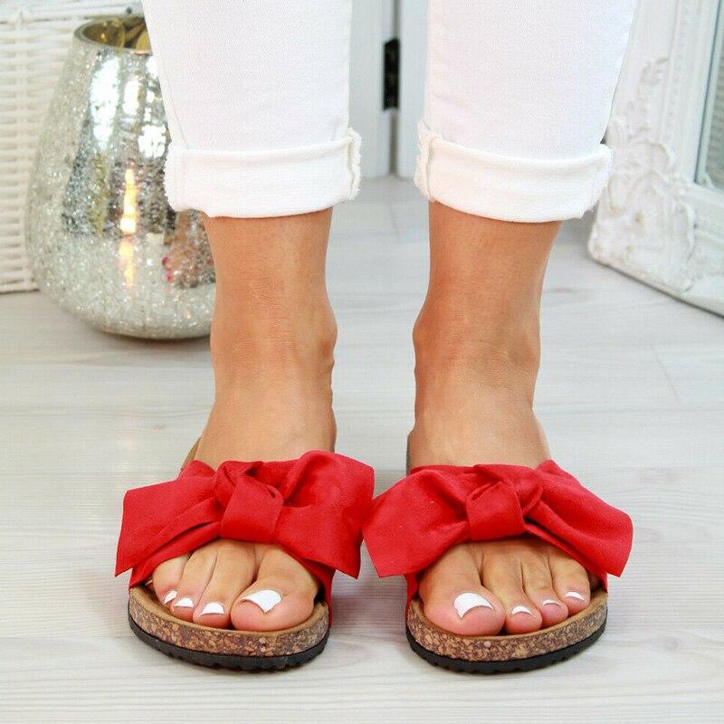 2020 chaussures femme sandales pour femmes chaussures de plage Bow sans lacet gladiateur sandales femmes chaussures d'été sandales plates femme grande taille 12