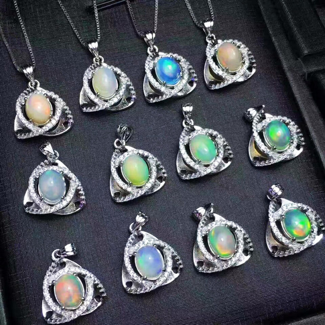 925 sterling silver jewelry 100 real natural opal pendant multiple 925 sterling silver jewelry 100 real natural opal pendant multiple colors women pendant with oval aloadofball Images