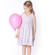 Kids Girls Summer Sleeveless Stripe Dresses Kids Lovely Princess Sundress Children Wedding Party Girl Prom Dress
