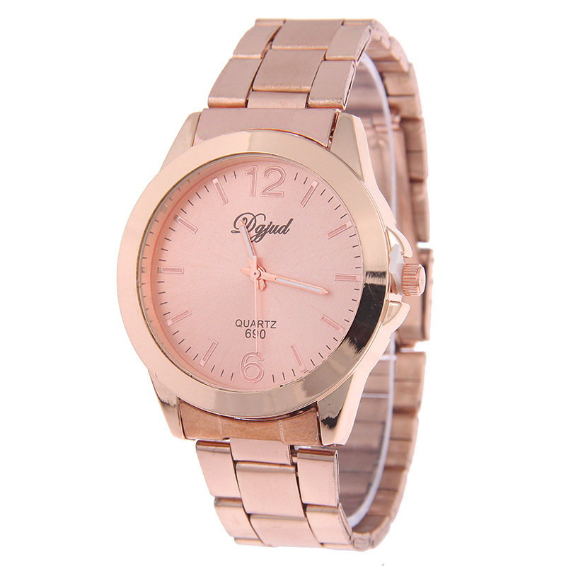 hot sale fashion rose gold watches full steel watch women watches hour clock montre femme. Black Bedroom Furniture Sets. Home Design Ideas