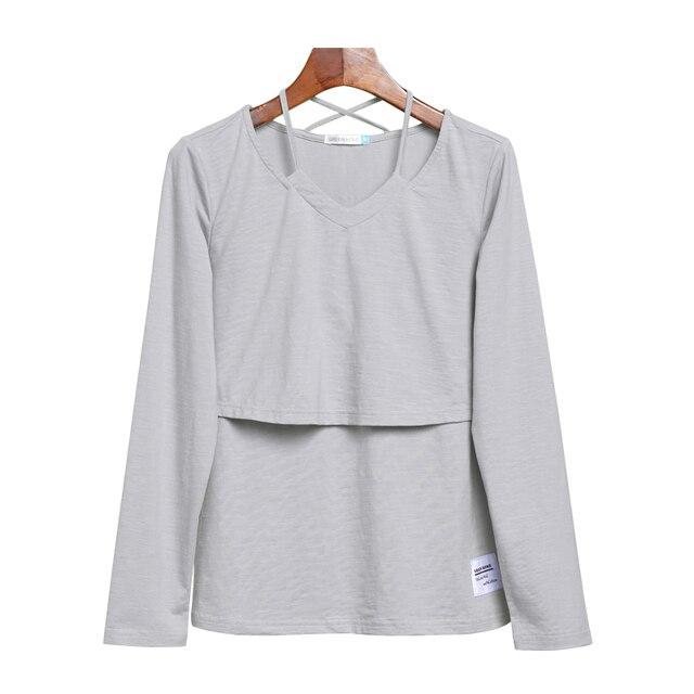 new arrive Long sleeve maternity t-shirt long elegant maternity tops winter nursing breastfeeding clothes for pregnancy 2016