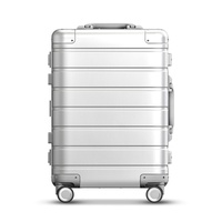 luxury high quality 100% Aluminum magnesium alloy 20/24/26/28/30 inch rolling luggage business travel suitcase