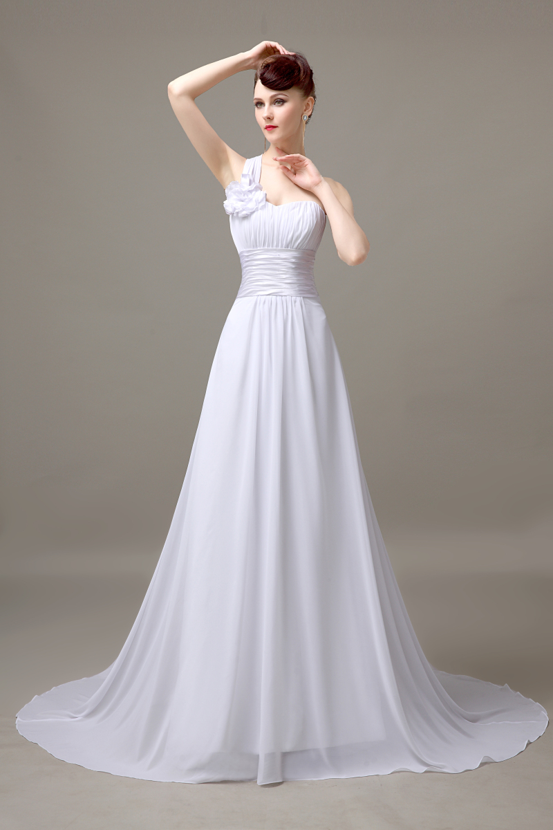 White one shoulder chiffon long cheap discount lace up back white one shoulder chiffon long cheap discount lace up back bridesmaid dress wedding guest dress for bridesmaid plus size bd465 in bridesmaid dresses from ombrellifo Choice Image