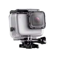 Underwater 45m Go Pro Hero7 Silver Waterproof Housing Shell for GoPro 7 Hero 7 White Diving Protective Case Camera Accessories telesin cool black waterproof case shell 45m underwater housing bacpac touched lcd screen backdoor cover for gopro hero 7 6 5