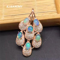 KJJEAXCMY boutique jewelry,925 Sterling Silver Natural opal pendant female natural rose gold S925 silver wholesale