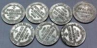1829 1836 7 Coins Russia 6 Platinum Coins Copy