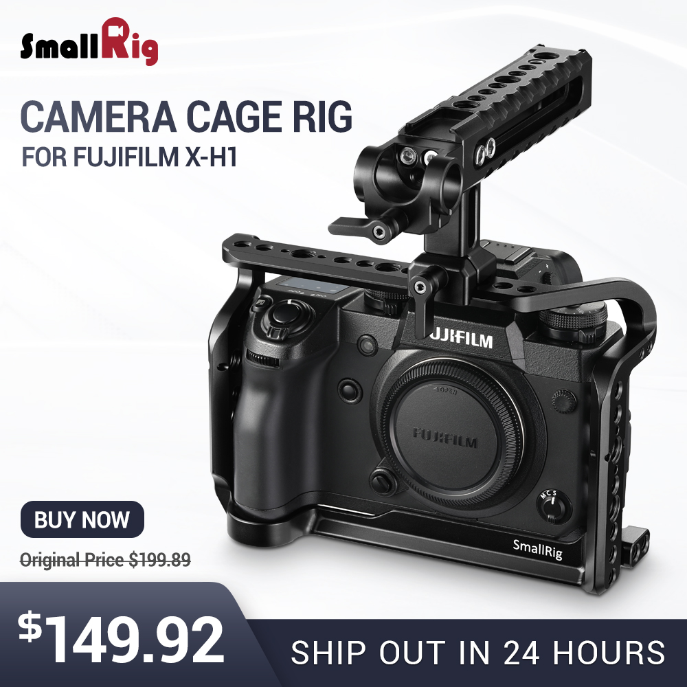 SmallRig H1 Cage For Fujifilm X H1 Camera Cage Form Fitting With Nato Rial Built in Arca Swiss plate With Top Handle 2135 in Camera Cage from Consumer Electronics