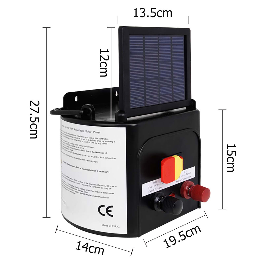 5km 015j Solar Electric Fence Charger Fencing Energizer Controller Wiring Diagram Collection For Farm Prevent Animal Destroy Garden And Plant In Trellis Gates From Home
