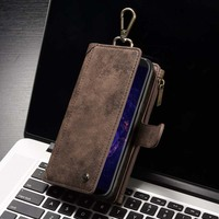 Original CaseMe PU Leather Multi Functional Magnetic Removable Wallet Flip Phone Case Cover For Samsung Galaxy