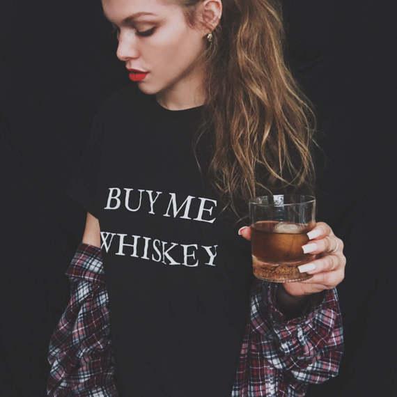 5769ef8dcaa2 ME COMPRAR UÍSQUE Mulher homem camisetas de algodão de moda roupas Tumblr t-shirt  camisa