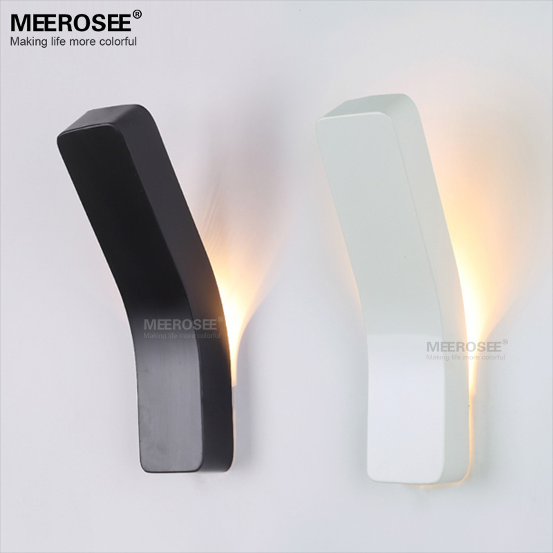 Modern Mini 3 W LED Wall Light Black Metal Wall Sconces White LED Mounted  Wall Lamp For Stair Indoor Outdoor Decoration MD81004