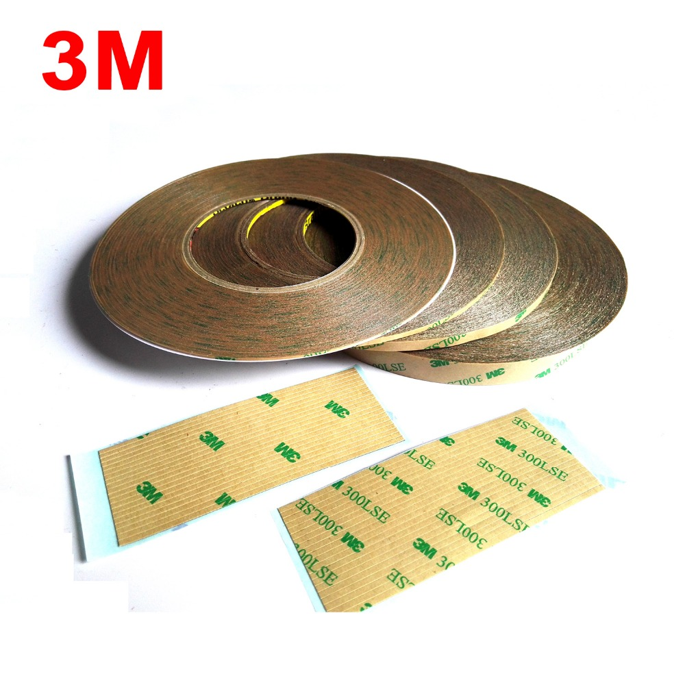 Wide Choose (1mm~15mm) Super Strong 3M 9495LE 300LSE Double Sided Heavy Duty Scoth Tape, Clear Wide For Phone Screen Display LCD
