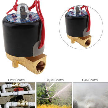 3/8'' Valve DC12V DC24V Normally Closed Type Aluminum Alloy Electric Solenoid Valve for Water / Oil / Gas Solenoid Valves