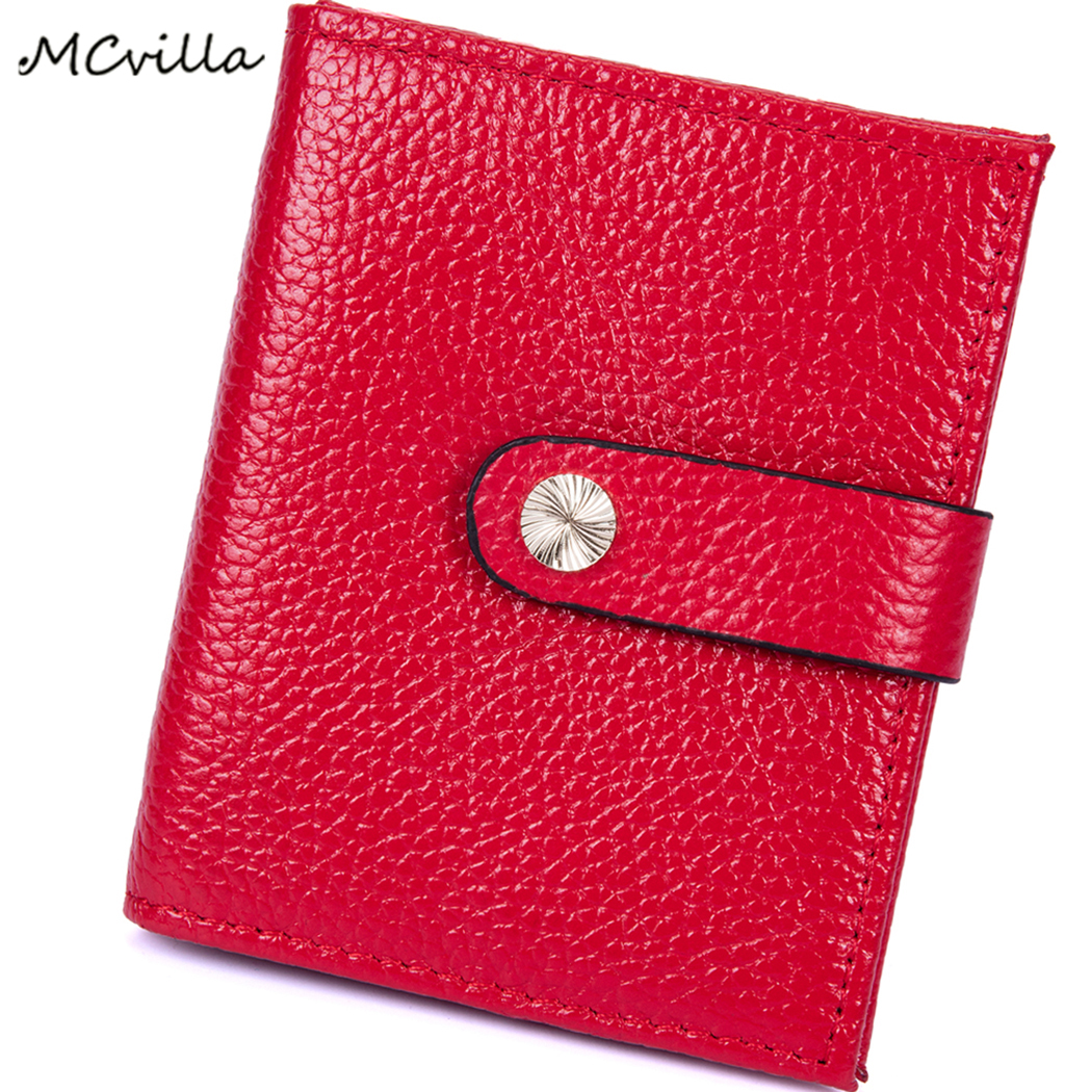 2018 Mini RFID Short Wallets Leather Credit Card ID Cover Anti-magnetic Wallet Business Anti Theft Card Holder Coin Pocket
