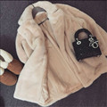 Women Faux Rabbit Hair Fur Coat Fashion Long Sleeve Autumn Spring Female Long Thicken Warm Coats And Jackets For Women M1422