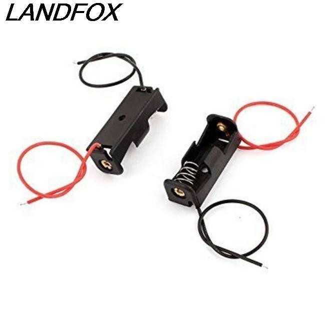 Landfox 2018 جديد وصول 2 قطع 23a/a23 شواحن الهاتف المحمول بطارية 12 فولت كليب حامل صندوق حالة الأسود الجملة/دروبشيبينغ