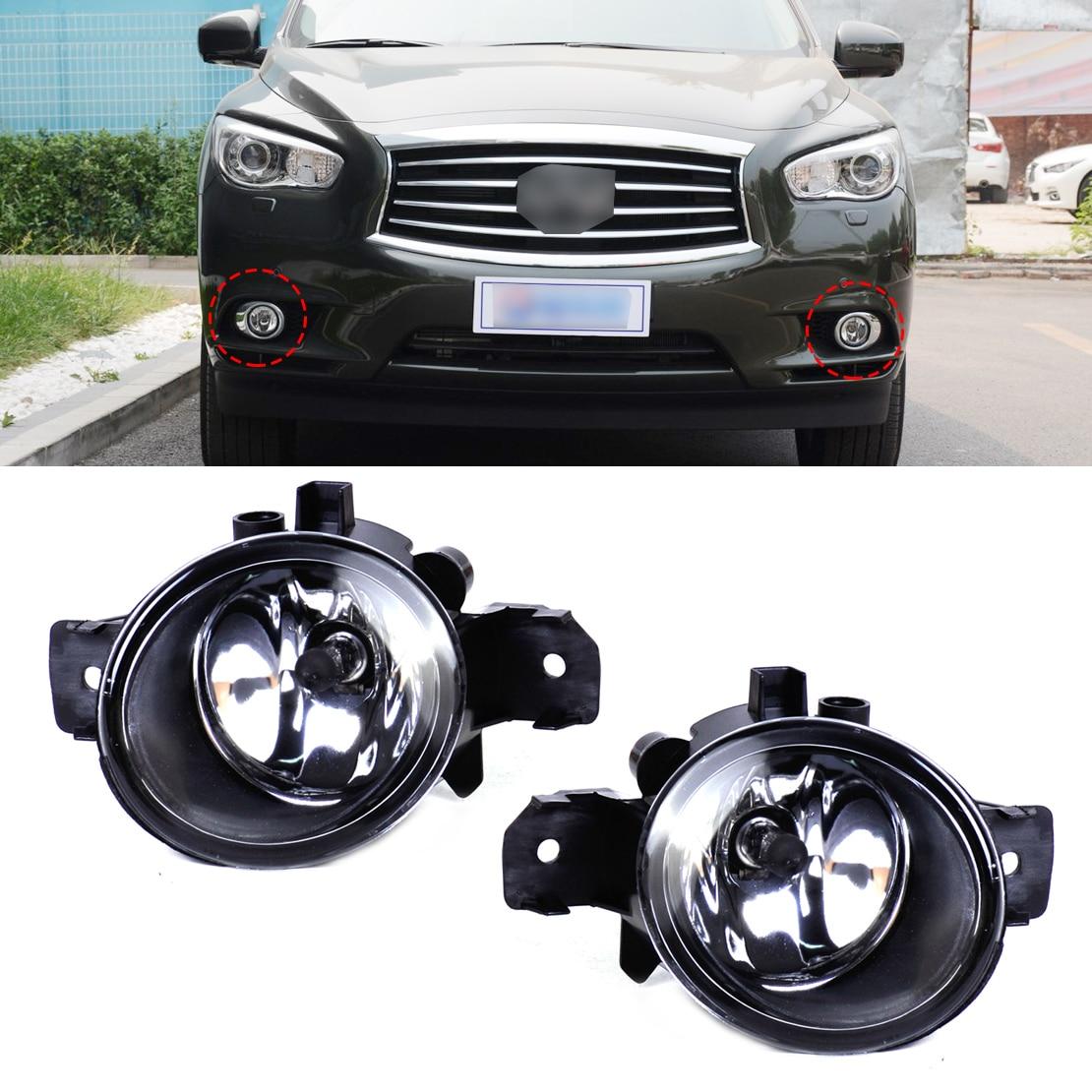 ФОТО Pair Drive Passenger Fog Light Lamp + H11 Halogen Bulb Len Fit for Nissan Altima Maxima Versa Infiniti 26155-89927 26150-8992