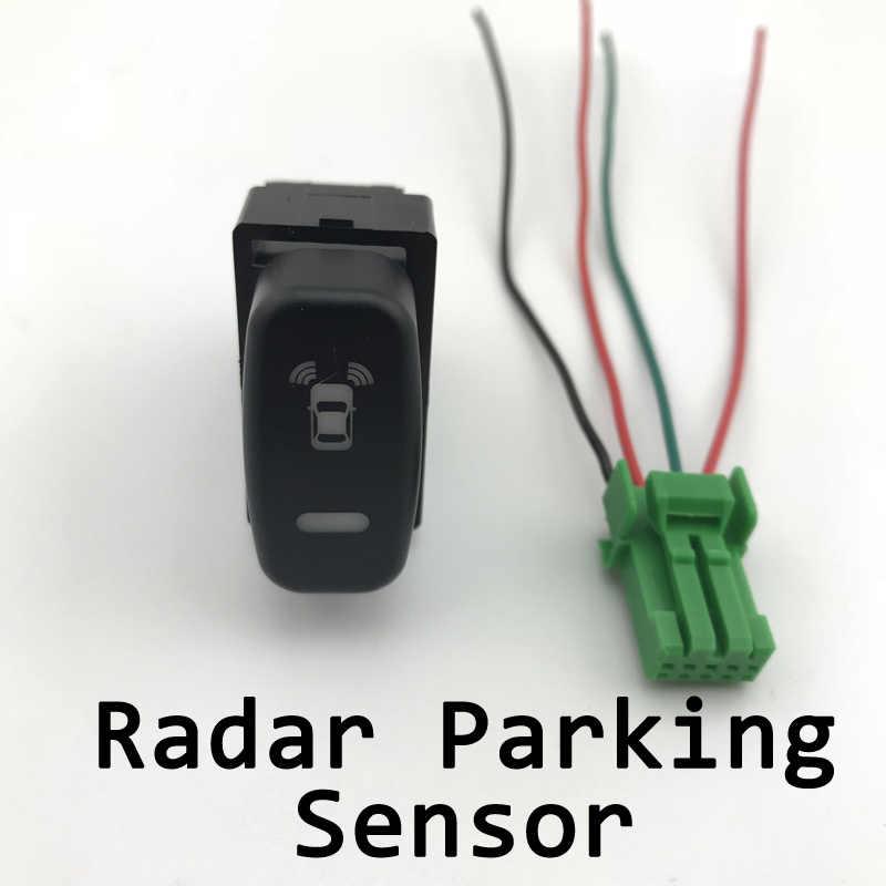 DRL LED antibrouillard caméra enregistreur moniteur Radar capteur de stationnement bouton de commutation avec fil pour Mitsubishi Pajero iO/Lancer EX