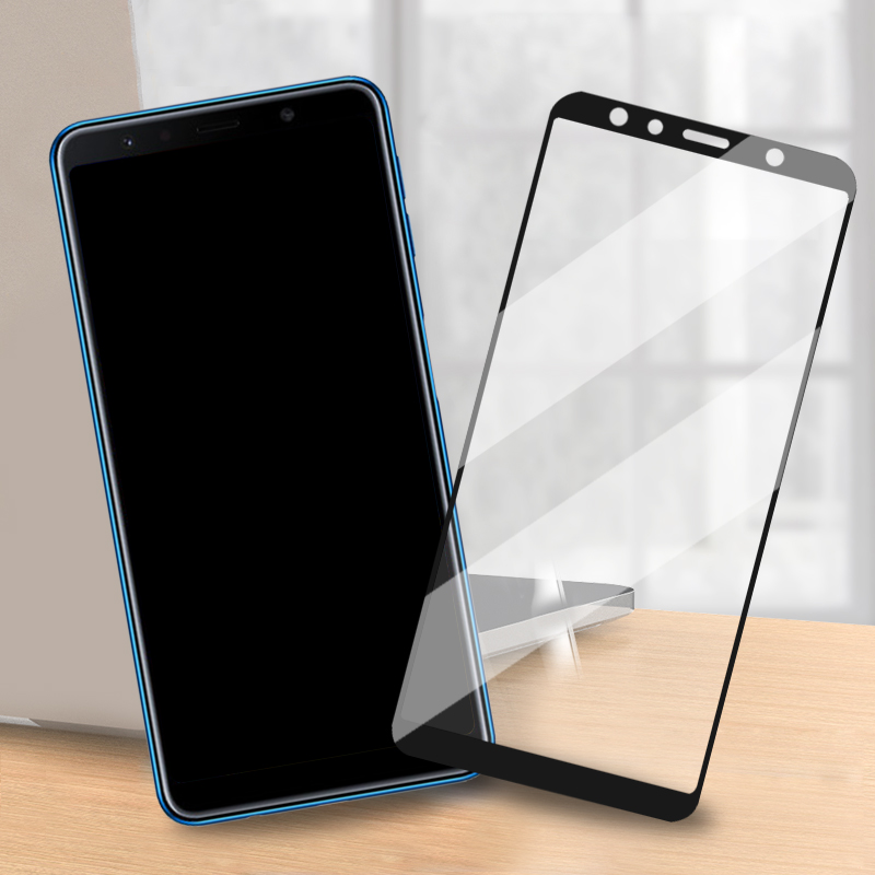 Screen Protective Glass For Samsung Galaxy A8 PLUS A7 2018 A6 Full Cover Tempered Glass Film On The For Samsung Galaxy A7 A8 A6
