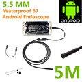 Android-автомобильный USB эндоскоп 6 из светодиодов 5.5 мм объектив инспекции бороскоп пробки камера с 5 м кабель