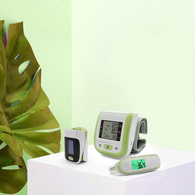 Yongrow Digital Medical Pulse Oximeter SpO2 Wrist Blood Pressure Monitor Ear Infrared Thermometer Oxygen PR Sphygmomanometer 6
