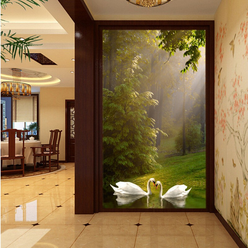 Aliexpress.com : Buy Beibehang Home Decor 3d Wall Murals Wall Paper Couple  Forest Entrance Decorative Painting Papier Peint Wallpaper For Walls 3D  From ... Part 59