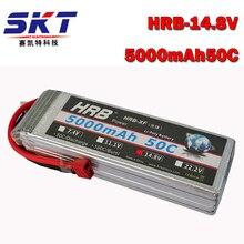 50c-100c 4S hrb 14.8 v 5000 mah batería lipo rc li-poly batería para quadcopter helicóptero del barco del coche