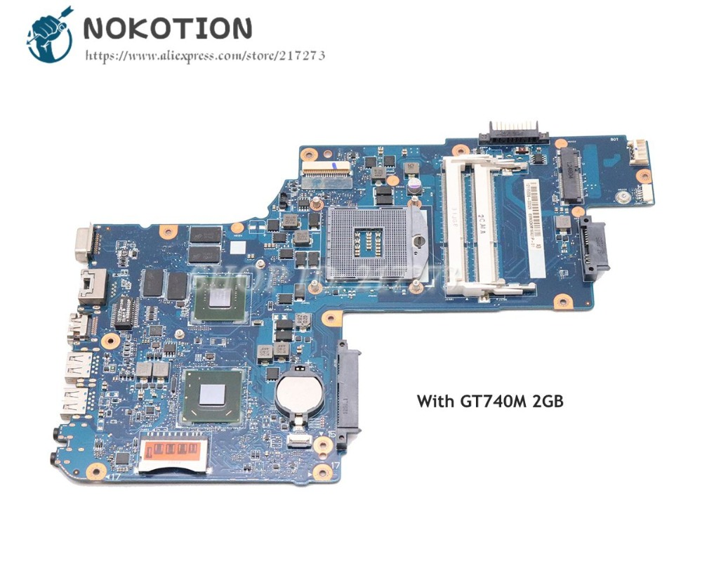 NOKOTION For <font><b>Toshiba</b></font> <font><b>Satellite</b></font> C50 <font><b>C55</b></font> Laptop <font><b>Motherboard</b></font> H000061980 MAIN BOARD HM76 DDR3 GT740M Video card image