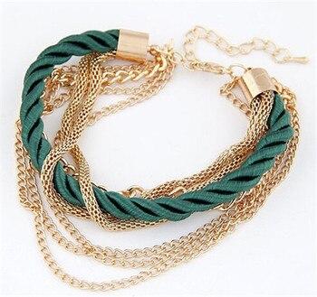 Fashion Multilayer Bracelet for Women Bracelets Jewelry Women Jewelry Metal Color: green