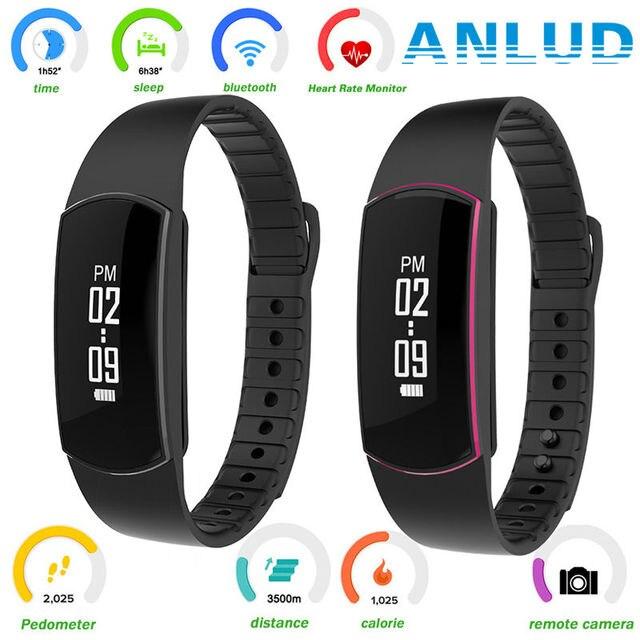 ¡ Caliente! banda inteligente pulsera heart rate monitor de actividad rastreador de fitness bluetooth pulsera impermeable s09 para iphone ios android
