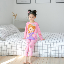 2019 new kids pajamas set children long sleeved sleepwear baby home clothes boys girls animal pyjamas pijamas lovely nightwear