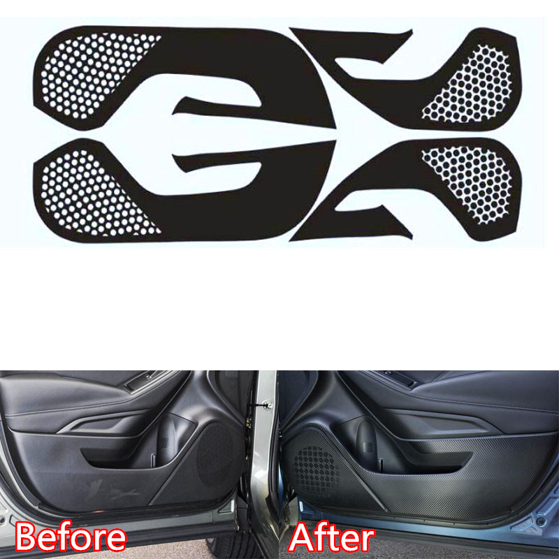 For Subaru Forester 2019 Car Door Anti-kick Stickers Car Cover Interior Accessories New Carbon Fiber Sticker 4Pcs/set