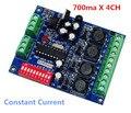 DMX 4CH RGBW светодиодный контроллер постоянного тока 700ma высокой мощности  привод 4 канала DMX512 светодиодный декодер для светодиодной лампы свет...